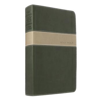NLT Premium Gift Bible, Duo-Tone, Evergreen and Stone