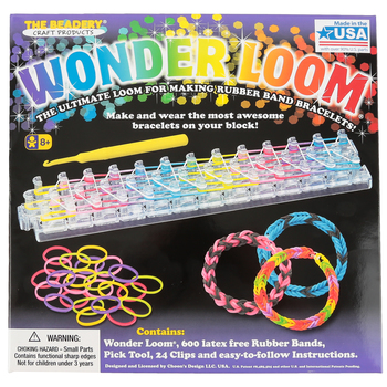 The Beadery, Wonder Loom Rubber Band Bracelet Kit, 627 Pieces, Grades 3-8