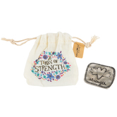 Natural Life, A Token Of Strength with Gift Bag, Zinc Alloy & Cotton, 1 1/2 inches