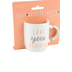 Pavilion Gift, Love You Daughter Mini Mug, Bone China, Pink and Silver Metallic, 5 ounces