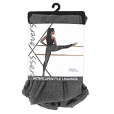 D.M. Merchandising, FitKicks, Crossovers Women's Active Lifestyle Leggings, Polyester/Spandex, Gray, S-XL