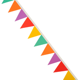 Renewing Minds, Die-Cut Border Trimmer, 38 Feet, Solid Pennant Flags