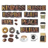Schoolgirl Style, Industrial Cafe, Morning Motivators Mini Bulletin Board Set, 22 Pieces