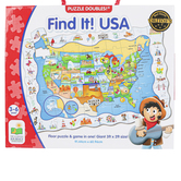 The Learning Journey, Find It USA Floor Puzzle, 50 Pieces, 36 x 24 inches