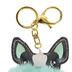 Tick Tock, French Bulldog Pom Pom Key Chain, Mint, 3 1/2 x 6 inches