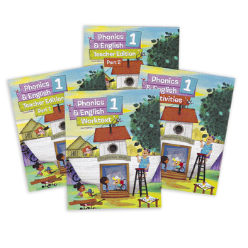 BJU Press, Phonics and English 1 Complete Subject Kit, 4th Edition, Grade 1