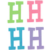 Glitter Foam Alphabet Letter Upper Case - H, 4 x 5.5 x .50 Inches, 1 Each, Assorted Colors