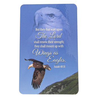 Dickson's Gifts, Wings Like Eagles Pocket Card, Paper, Blue, 2 1/2 x 4 Inches