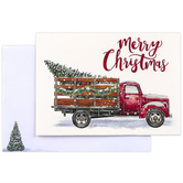 Brother & Sister Design Studio, Merry Christmas Truck Boxed Cards, Set of 20