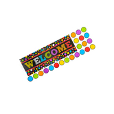 Chalk Talk Collection, Welcome Bulletin Board Set, Multi-Colored, 31 Pieces