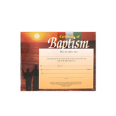 Broadman Church Supplies, Sunset Design Baptism Certificates, 8 1/2 x 11 inches, Set of 6