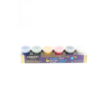 Sargent Art, Washable Paint Set, .75 Ounces, Bright Primary Colors, Pack of 6