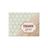 Brother Sister Design Studio, Burlap and Lace Thank You Note Cards, 20 Cards with Envelopes