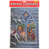 Vermont Christmas Co., Light From Within Advent Calendar, 8 1/4 x 11 3/4 inches