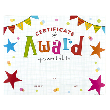 Renewing Minds, Certificate of Award, 11 x 8.5 Inches, Multi-Colored, Pack of 30