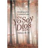 Salt & Light, Salmos 46:10 Yo Soy Dios Spanish Church Bulletins, 8 1/2 x 11 inches Flat, 100 Count