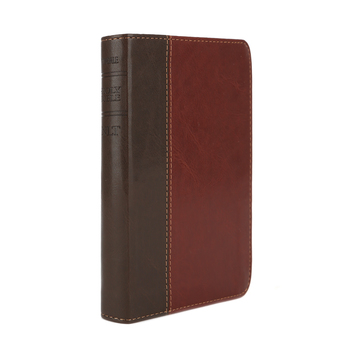 NLT Compact Bible, Duo-Tone, Tan and Brown