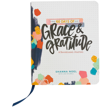 DaySpring, 100 Days of Grace and Gratitude Devotional Journal, White, 6 3/4 x 8 1/4 inches, 208 Pages