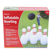 HearthSong, Giant Inflatable Bowling Game, 11 Pieces, Ages 4 and Older