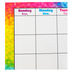 Trend, Colorful Brush Strokes Wipe-Off Calendar, Monthly, 22 x 28 Inches, Multi-colored, 1 Piece