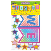 Teacher Created Resources, Colorful Vibes Pennants Welcome Bulletin Board Set, 55 Pieces