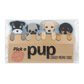 Streamline Importing Inc, Pick a Pup Doggy Memo Tabs, Paper, Multi-Colored, 4 Count