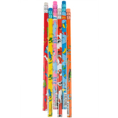 GEDDES School Supplies, Dr. Seuss Pencil Too, 12 Assorted Designs, 7.38 Inches, 1 Each