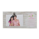 Dicksons, Mom Floral Clip Photo Frame, Holds 4 x 6 Photo, MDF, 11 3/4 x 6 inches