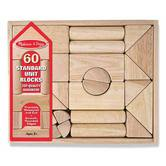 Melissa & Doug, Standard Unit Wooden Building Blocks, Ages 3 to 8 Years Old, 60 Pieces