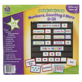 Teacher Created Resource, Numbers, Counting and More Pocket Chart Cards, 192 Pieces, Grades 1-2