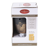 Candle Warmers, Oblong Pluggable Fragrance Warmer, Black and Gold, 5 1/2 x 3 inches