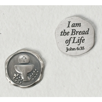 Cross/Chalice Pocket Token - Bread Of Life