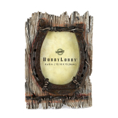 Horseshoe Photo Frame, Rustic Resin, for 4 x 6 inch photo