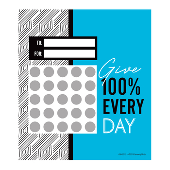 Isabella Collection, Customizable Mini Incentive Charts, 5.25 x 6 Inches, 36 Sheets
