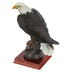 Eagle on Rock Figurine, Resin, Brown, 8 1/2 x 4 x 6 inches