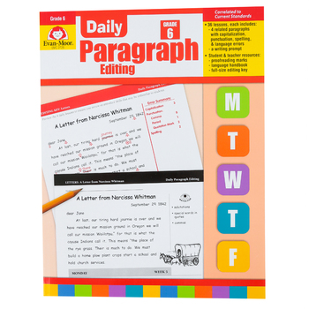 Evan-Moor, Daily Paragraph Editing Teacher's Edition, Paperback, 176 Pages, Grade 6