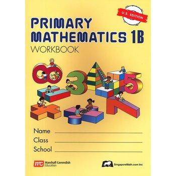 Singapore Math, Primary Math Workbook 1B, U.S. Edition,  Paperback, 176 Pages, Grades 1-2
