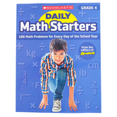 Scholastic, Daily Math Starters Grade 4 Activity Book, by Bob Krech, Paperback, 80-Pages