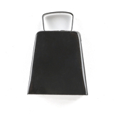 Western Party Cow Bell, Black, Metal, Small 2 x 3 x 4 Inches, 1 Each