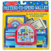 Melissa & Doug, Pretend-To-Spend Wallet, Ages 3 and Older, 45 Pieces