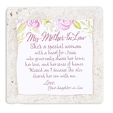 Product Concepts, Mother-In-Law Sentiment Plaque Tile, Multi-Colored, 4 x 4 Inches
