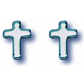 Small Polished Cross Earrings