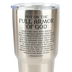 Dicksons, Ephesians 6:14-17 Armor of God Tumbler, Stainless Steel, Silver, 30 ounces