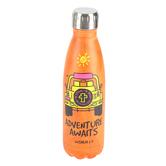 Kerusso, Adventure Awaits Eco Bottle, Stainless Steel, Orange, 16 Ounces