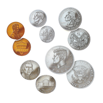 Teacher Created Resources, Money: Coins Large Accents Cutouts, 6 Inches, 30 Pieces
