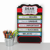 Isabella Collection, Dear Students Wall Decor, 11 1/2 x 18 1/2 Inches