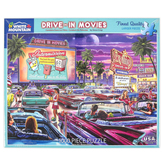 White Mountain, Drive-In Movies Puzzle, 1000 Pieces, 24 x 30 Inches