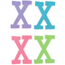 Glitter Foam Alphabet Letter Upper Case - X, 4 x 5.5 x .50 Inches, 1 Each, Assorted Colors