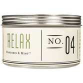 Relax Aromatherapy Candle in Tin, Mandarin & Mint Scent, 11 Ounces, 4 x 3 1/8 inches