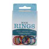Renewing Minds, Metallic Binder Rings, 7/8 Inch, Assorted Colors, Pack of 12